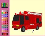 Tűzoltóautós kifestő